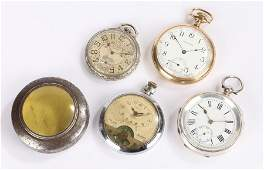 Waltham Gold plated open face pocket watch, Lennards