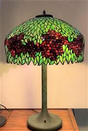 Large Unique Art Glass Co. Lamp