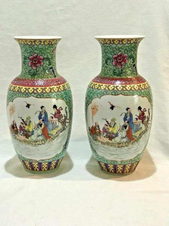 Pair of Republic Period Chinese Porcelain F