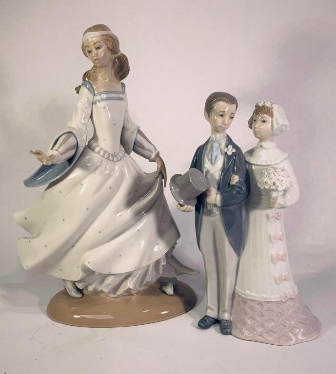 Two (2) Lladro Porcelain Figurines