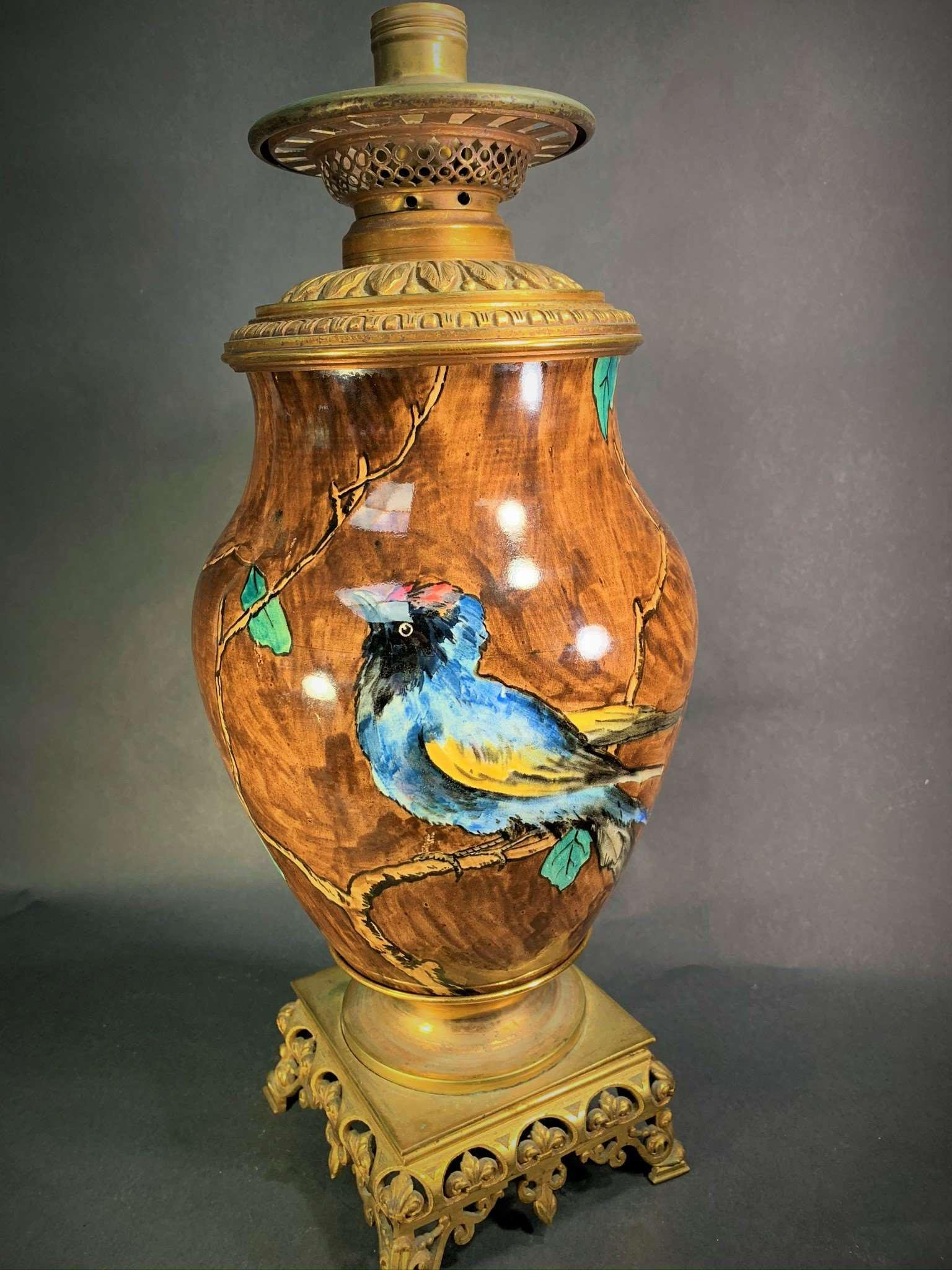 Antique Rookwood Style Lamp