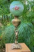 Victorian Putti Oil Lamp