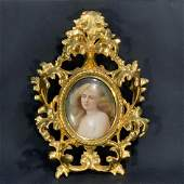 19th Century Hand Painted Miniature Portrait