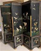 Antique Chinese 6 Panel Screen