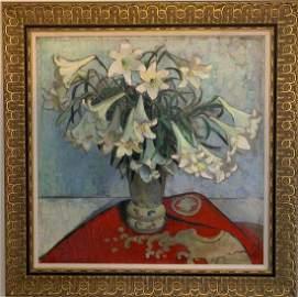 Attrib: George (Sir George) Clausen Oil/Canvas