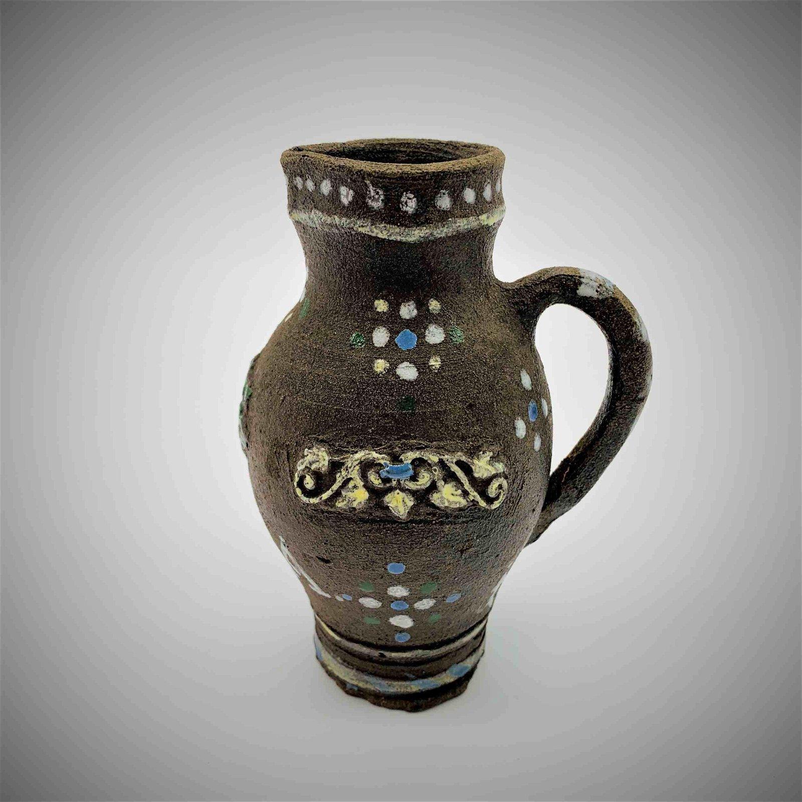 Circa 1622 Miniature Salt Glazed Stoneware Jug