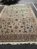Signed Semi-Antique Persian Kashan Carpet