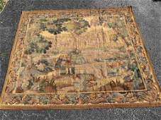 18/19 C French Courtyard Tapestry