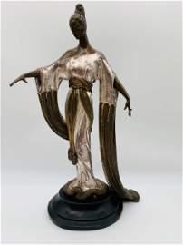 Erte Romain De Tirtoff Bronze Sculpture