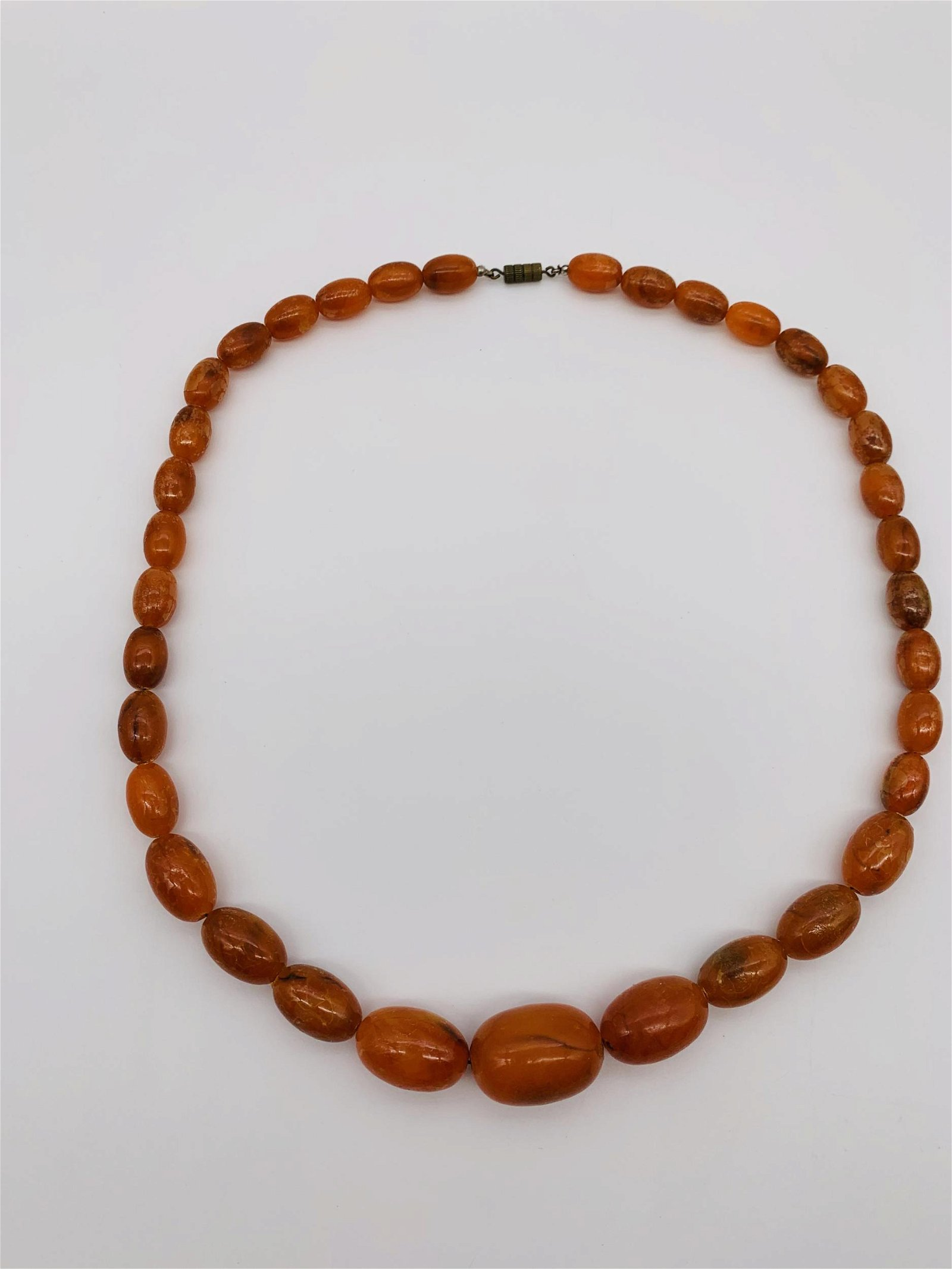 Antique Amber Beaded Necklace