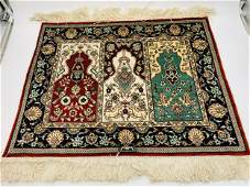 Turkish Hereke silk Prayer Rug