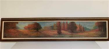 John India (20th C) Oil on Canvasboard Tryptic