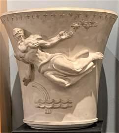 Important Art Deco Period Plaster Sculpted Urn