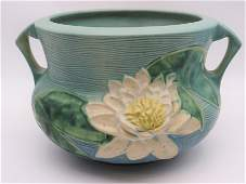 """Roseville """"Water Lily"""" Jardiniere"""