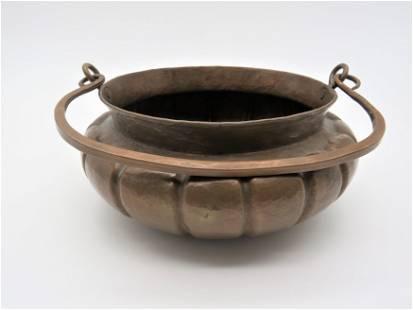 Attrib: Marie Zimmermann Hammered Copper Bowl