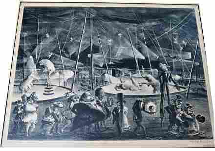 """Adolf Dehn Lithograph """"Circus"""""""