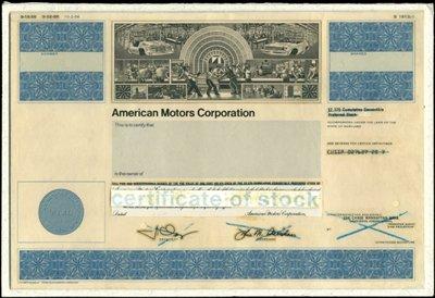 1: American Motors Corp. Production File,