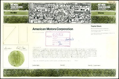 2: American Motors Corp. Production File,