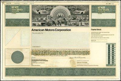 3: American Motors Corp. Production File,