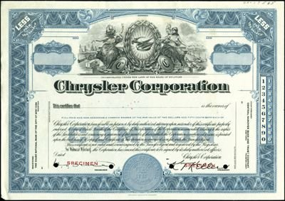 8: Chrysler Corp. Production File,