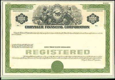9: Chrysler Financial Corporation Unique Production Mod