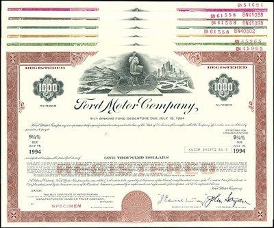 14: Ford Motor Co. Bonds