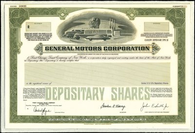 19: General Motors Corp. Unique Production File with Mo