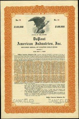 21: DuPont American Industries, Inc. Bond,