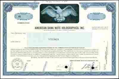179: Holographs Used on Stock Certificates,