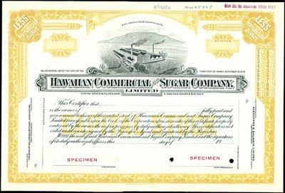 399: Hawaiian Commercial and Sugar Company, Limited.