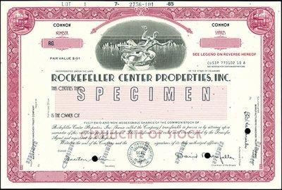 586: Rockefeller Center Properties, Inc.,