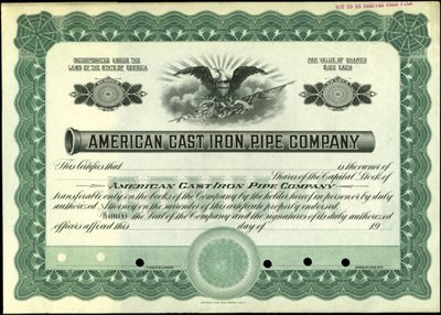917: American Cast Iron Pipe Company Stock Specimens (2