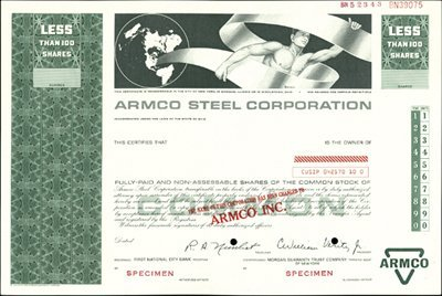 919: Armco Steel Corporation and Transition Certificate