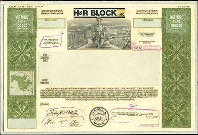 926: H&R Block, Inc. Unique Production File with Model