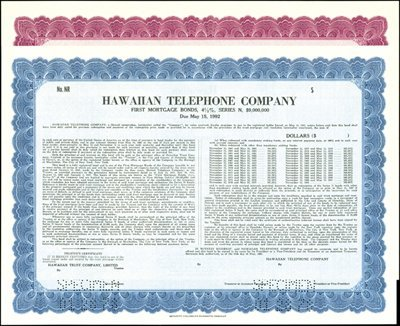 930: Hawaiian Telephone Co. Bonds,