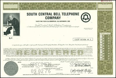 938: South Central Bell Telephone Company Bonds
