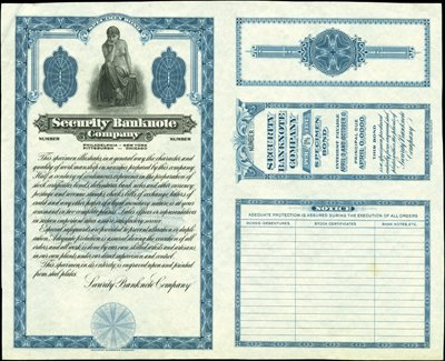 1870: US. Security Bank Note Company Advertising Note F