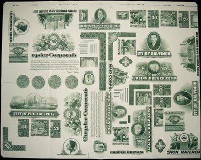1871: U.S. Security BNCo. Large Format Proof Vignette S