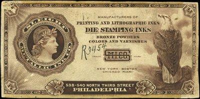 1872: U.S. Sleigh Metallic Ink Co. Advertising Notes.