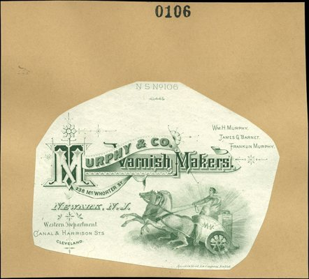 1874: U.S. Advertising Label Proofs from Letterheads, A