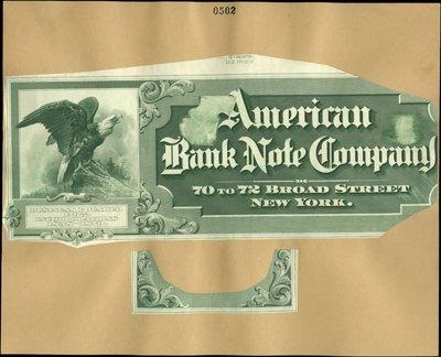 1876: New York, NY. American Bank Note Company Advertis