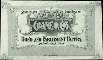 1880: U.S. Crane & Co. Advertising Label Proofs.