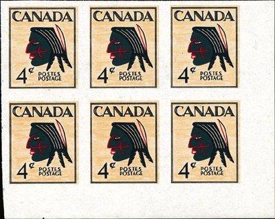 13: Canada 4c Native Indian Multicolored Essay.