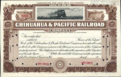 909: Mexico, Chihuahua & Pacific Railroad Co.