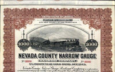 913: U.S. The Nevada County Narrow Guage Railroad Co.