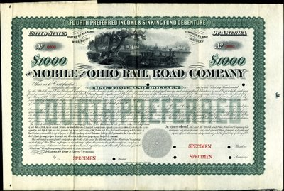 917: Mobile and Ohio Rail Road Co. Bond