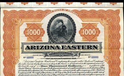 918: Arizona. U.S. Arizona Eastern Railroad Co.