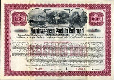 920: California. U.S. Northwestern Pacific Railroad Co.