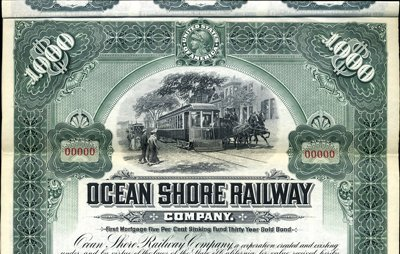 922: California. U.S. Ocean Shore Railway Co.
