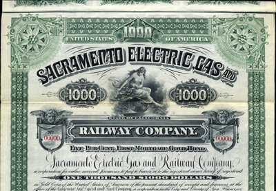 923: California. U.S. Sacramento Electric, Gas and Rail
